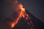 菲律宾马荣火山喷发 近3000人患急性呼吸道疾病