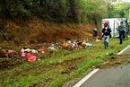 印度尼西亚旅游大巴侧翻 事故已造成27人丧生