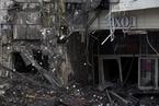 俄罗斯起火购物中心内部曝光 繁华商场已成废墟