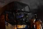 泰国一辆大巴起火 已造成至少20名缅甸劳工死亡