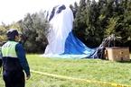 济州岛一热气球撞山 致1死12伤
