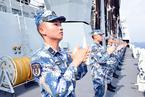 中央军委在南海海域举行海上阅兵