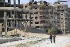 叙利亚政府军收复东古塔 走进残垣断壁的杜马镇