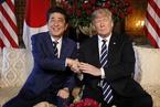 """特朗普会见安倍 再现""""握手杀"""""""