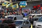 """乌克兰民众抗议油价上涨 """"占领""""内阁大楼广场"""