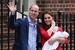 英国凯特王妃产后与威廉王子怀抱第三胎萌娃亮相
