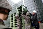 韩军方拆除对朝扩音广播设备
