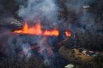 夏威夷火山再发威 熔岩从裂缝涌出流向居民区