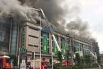 四川达州塔沱市场火灾持续三天 3日凌晨明火再起