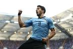 苏亚雷斯破门 乌拉圭1-0沙特阿拉伯