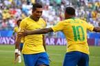 内马尔、菲尔米诺破门 巴西2-0墨西哥