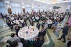朝鲜举行欢迎晚宴 庆祝韩朝统一篮球赛