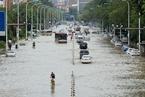 台风带来今夏最强降雨 天津市内多处积水严重