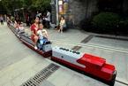 """南京市区""""小火车"""" 亲子一起搭乘"""