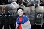 尼加拉瓜爆发反政府示威游行 民众警察街头对峙