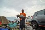 印尼中苏拉威西省强震引发海啸 至少384人丧生