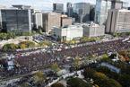 韩国上万出租车司机罢工游行 抗议软件拼车服务