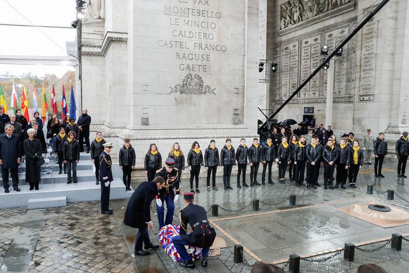 吉林市夜巴黎_法国隆重纪念一战结束百年 多国领导人出席仪式_图片频道_财新网