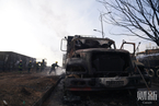 张家口一化工厂附近发生爆炸 23人遇难车体烧成空壳