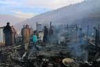 叙利亚难民营大火 家园变焦土