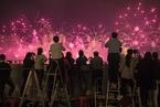 广东珠海举办建市40周年光影焰火秀