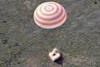 """""""联盟MS-11""""飞船搭载三名宇航员顺利返回地球"""