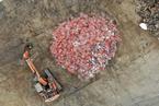 天津共享单车粉碎工厂 大量报废单车?#25442;?#25910;