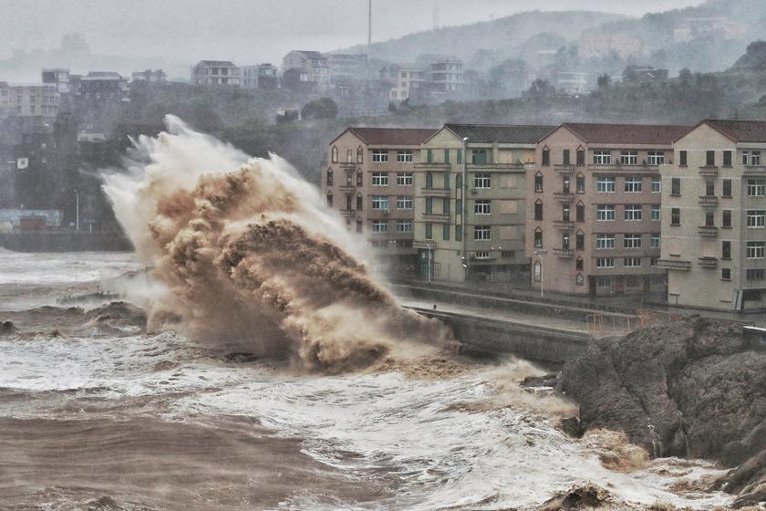 超强台风 利奇马 登陆浙江 多地掀起狂风暴雨