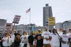 旧金山数百人集会 要求关闭无证移民拘留中心