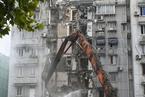 杭州地铁施工致路面塌陷沉降 涉事危房开始拆除