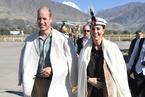 """威廉王子夫婦訪問巴基斯坦 凱特""""復制""""戴妃造型"""