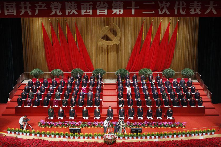 2012年5月7日,陕西省第十二次党代会在陕西大会堂开幕。_换届大局