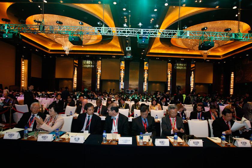 11月16日,2012财新峰会开幕式。  王攀/财新记者_2012财新峰会开幕式
