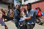 尼泊尔再发强震 至少四人死亡
