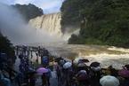贵州黄果树瀑布迎年内入汛最大水量