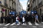 法国医护人员在巴黎示威游行 万余人参加