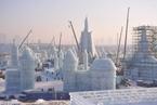 哈尔滨冰雪大世界主体完工 园区即将开园迎客