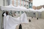 韩国首尔一大学宿舍被征用 建设新冠治疗设施