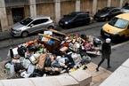 法国清洁工集体罢工 马赛街头550吨垃圾堆积成山