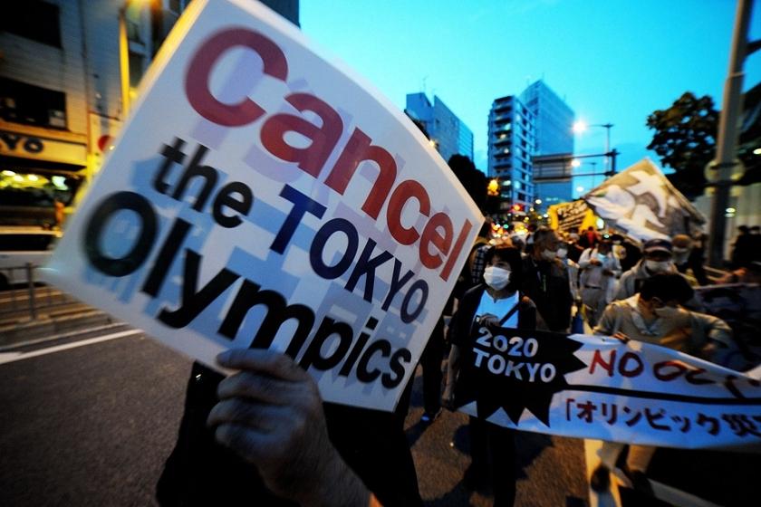 日本民众集会 呼吁取消东京奥运会