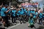 希腊多个工会举行联合大罢工 抗议新的劳工法案